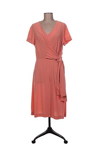 Robe mi-longue orange ISABEL DE PEDRO pour femme