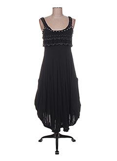 Robe longue noir HIGH pour femme