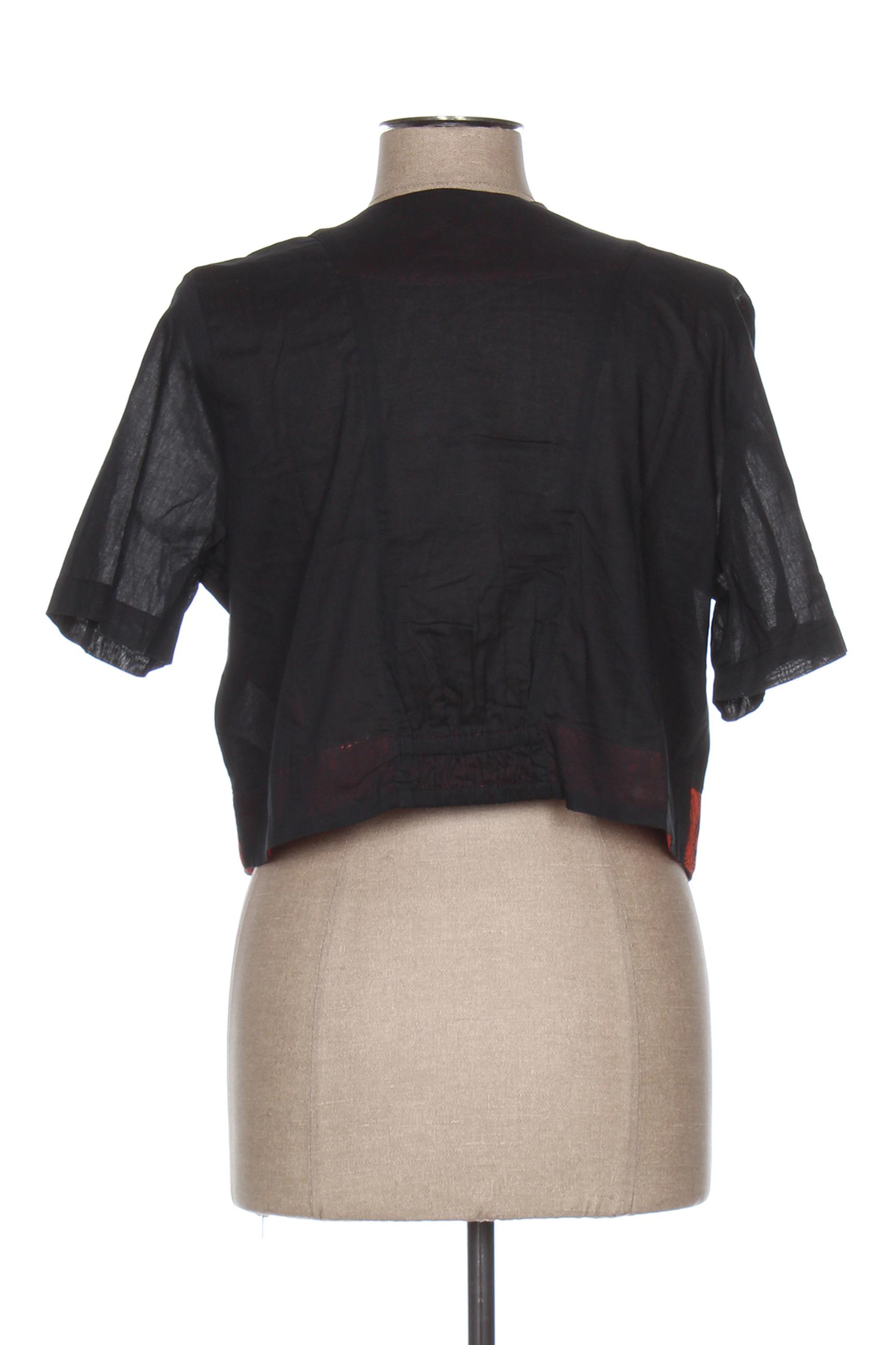 Enjoy Vestecasual Femme De Couleur Noir En Soldes Pas Cher 1285704-noir00