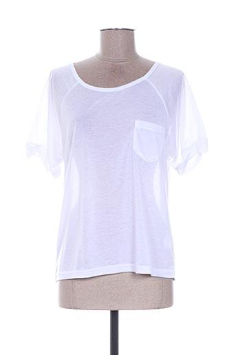 T-shirt manches courtes blanc EMOI BY EMONITE pour femme
