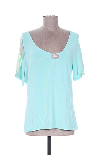 T-shirt manches courtes bleu ALL BEAUTIFUL pour femme