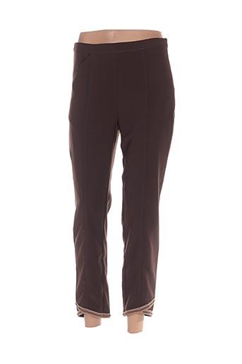 Pantalon 7/8 marron ALL BEAUTIFUL pour femme