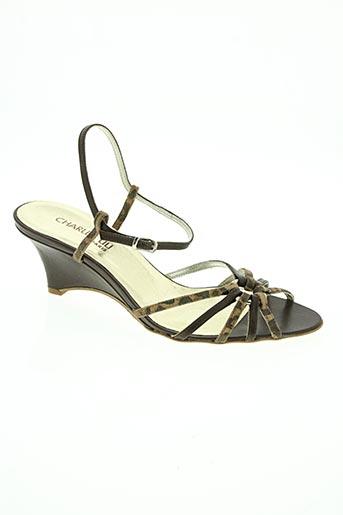 charles liu chaussures femme de couleur marron