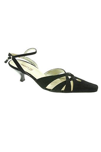 Sandales/Nu pieds noir CHARLES LIU pour femme
