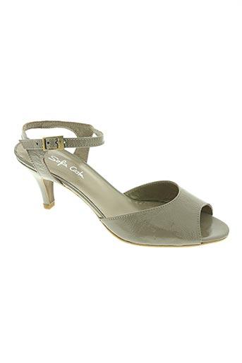 sofia costa chaussures femme de couleur gris