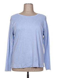 T-shirt manches longues bleu CAPSULE pour femme