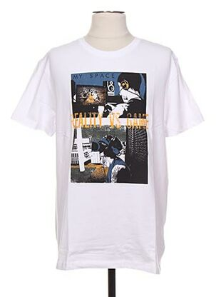 T-shirt manches courtes blanc ENGINE pour homme