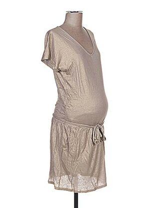 Robe courte beige COLLINE pour femme