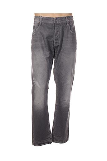 Jeans coupe droite gris G STAR pour homme