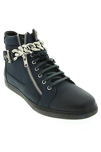 uomo chaussures homme de couleur bleu
