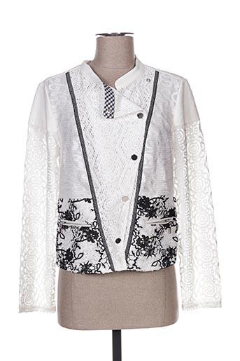 Veste casual blanc LESLIE pour femme