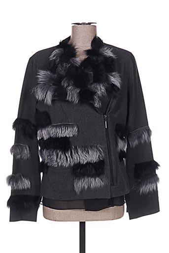 Veste chic / Blazer gris AKHESA pour femme