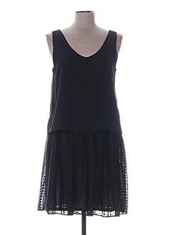Robe mi-longue noir GARELLA pour femme