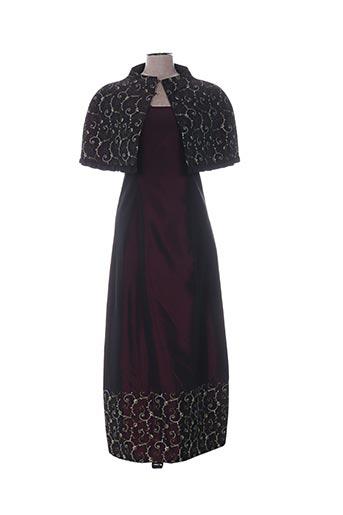 Veste/robe violet CHRISTIE DE LA RUE pour femme