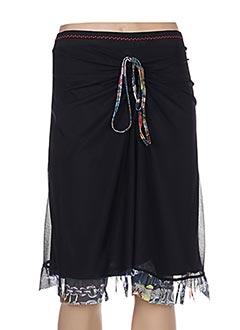 Jupe mi-longue noir GARELLA pour femme