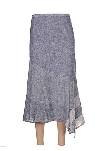 Jupe mi-longue bleu ATIAN pour femme