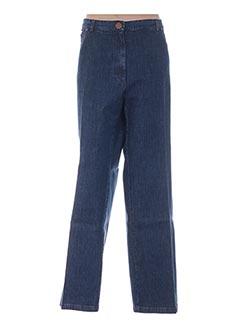 Jeans coupe droite bleu ATIAN pour femme