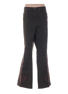 Jeans coupe droite vert ELENA MIRO pour femme