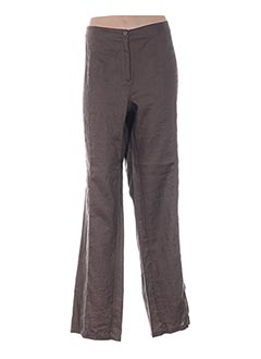 Pantalon casual marron ELENA MIRO pour femme