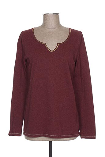 T-shirt manches longues rouge AMERICAN OUTFITTERS pour femme