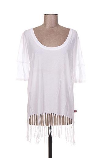 T-shirt manches courtes blanc I LOVE MY T'S pour femme