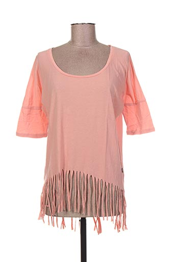 T-shirt manches courtes orange I LOVE MY T'S pour femme