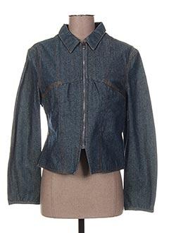 Veste en jean bleu TEDDY SMITH pour femme