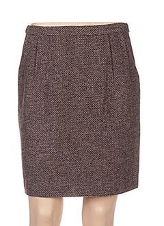 Jupe courte marron NICE THINGS pour femme