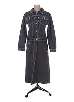 Manteau long bleu DKNY pour femme