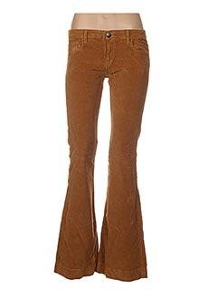 Pantalon casual marron FIVE PM pour femme