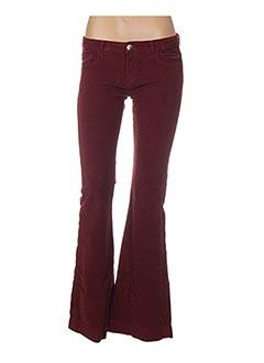 Pantalon casual rouge FIVE PM pour femme