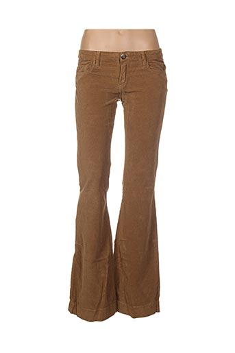 Pantalon casual beige FIVE PM pour femme