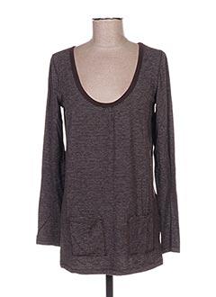 T-shirt manches longues marron LITTLE MARCEL pour femme