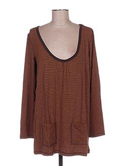 T-shirt manches longues orange LITTLE MARCEL pour femme