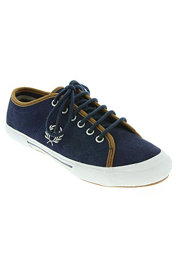 fred perry chaussures unisexe de couleur bleu