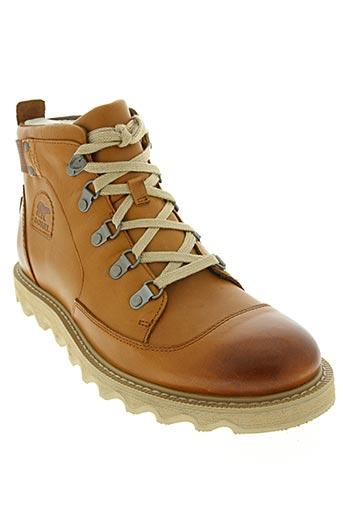 sorel chaussures homme de couleur marron