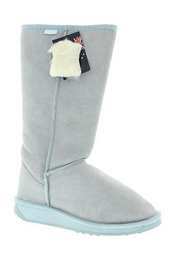 emu australia chaussures femme de couleur bleu