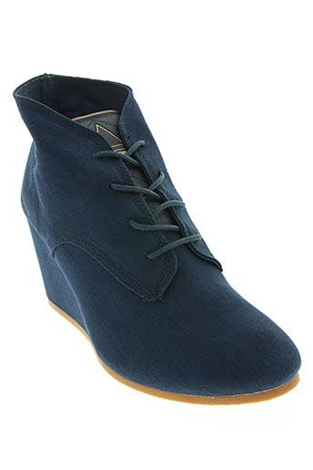 eleven paris chaussures femme de couleur bleu