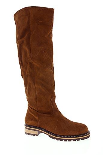 e-cow chaussures femme de couleur marron