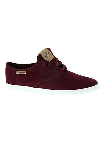 adidas chaussures homme de couleur rouge