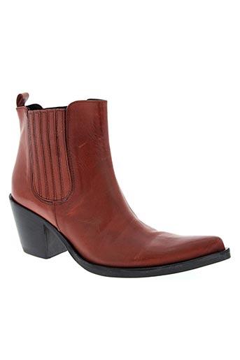 paprika chaussures femme de couleur rouge