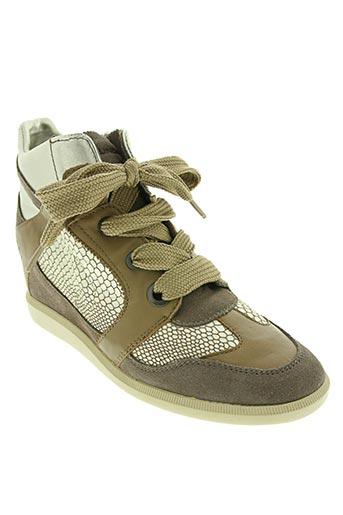 groundfive chaussures femme de couleur vert