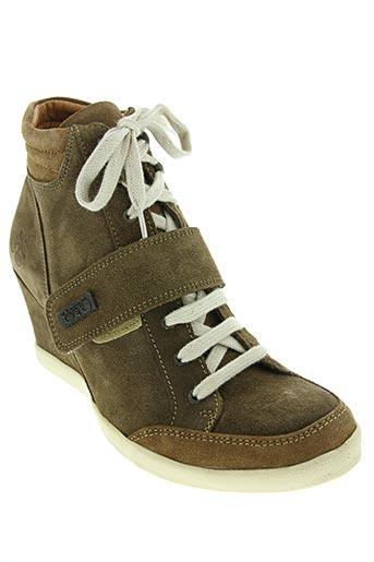 le temps des cerises chaussures femme de couleur vert