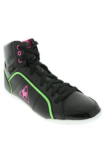 le coq sportif chaussures femme de couleur noir