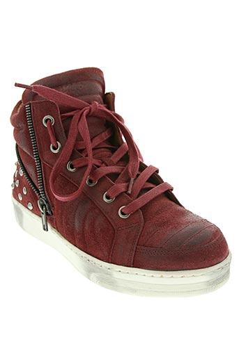 viu sneakers chaussures femme de couleur rouge
