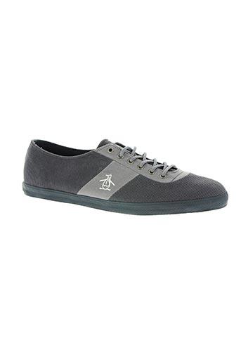 penguin chaussures homme de couleur gris