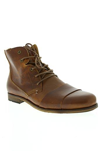 hub chaussures homme de couleur marron