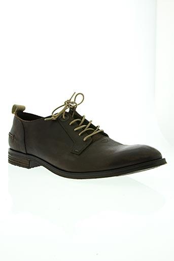 kickers chaussures homme de couleur marron