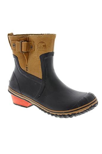 sorel chaussures femme de couleur marron