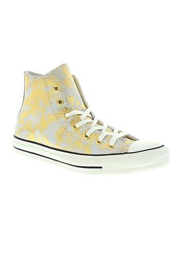 converse chaussures femme de couleur jaune